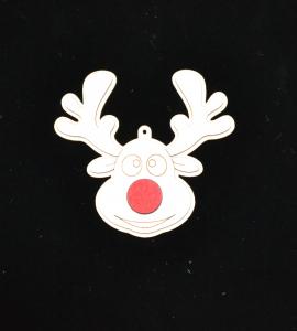 Novoletni leseni okrasek Rudolf