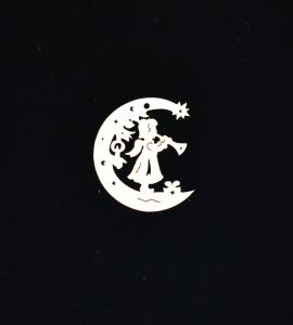 Novoletni leseni okrasek luna