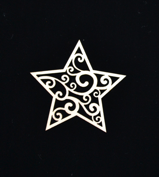 Novoletni leseni okrasek zvezda
