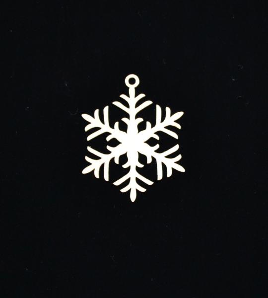 Novoletni leseni okrasek snežinka 3