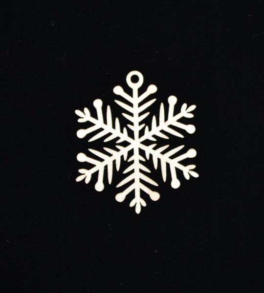 Novoletni leseni okrasek snežinka