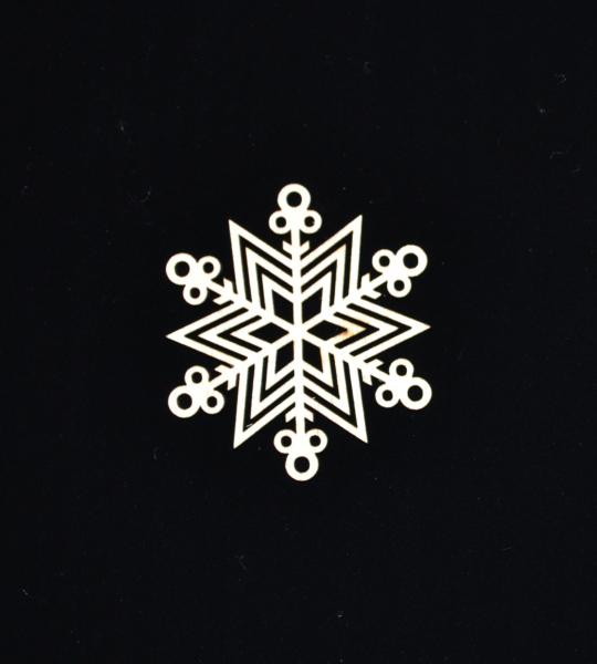 Novoletni leseni okrasek zvezda 2